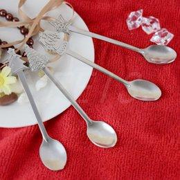 Wholesale 4 sets Christmas spoon stainless steel Coffee stirring spoon tea spoon multi function tableware Christmas gift