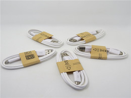 Wholesale 200pcs For I S6 S5 S4 Micro USB Cable Note Cable Micro USB m Sync Data Cable Charging Charger Cable adapter Wire HTC
