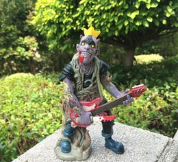 Wholesale 15cm British psychobilly punk rock band The meteors OTMAPP zombie figures vinyl doll great for gift