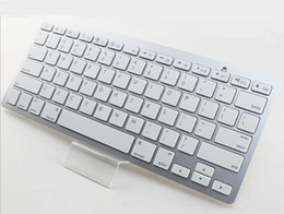 Wholesale Universal Wireless Bluetooth Keyboard for iPad Android Tablet PC Windows Surface Pro Aluminum ABS Qwerty Keyboard Desktop Computer iMac Q1