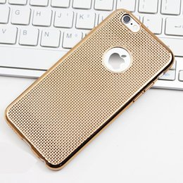 Wholesale Luxury Hollow Hole Dots Back Easy Hat Dissipation Colorful Electroplating TPU Case Skin Cover For iphone s Plus s