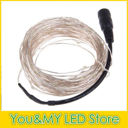 Edison2011 12V 5M 50leds Sliver Copper Wire LED String Light Waterproof Fairy Light for Christmas Wedding Halloween