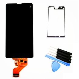 Wholesale LCD For Sony Xperia Z1 Compact Mini D5503 M51W LCD Display Touch screen with digitizer assembly Tools Black