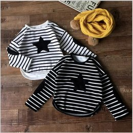 Unisex Kids Boys and Girls Stripe Cotton Fleeces 2016 Babies Casual Jumper Tops Children's Korean Style Shirts Kids clothes