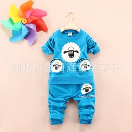Wholesale 4pcs Spring blasting with four young children all wadded pants suit children leisure two piece