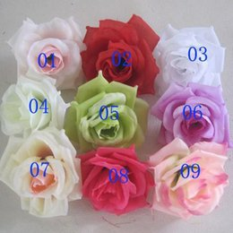 Wholesale High Quality CM Artificial Silk Rose Head Flower for Wedding Christmas Party DIY Decoration