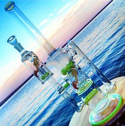 2015 New Arrival Glass water pipes glass bongs with sprinkle perc and round liner perc and gear perc recycler oil rigs
