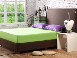 Colchones de colchón en Línea-Al por mayor-color sólido colchón Topper cubierta del cojín La sábana bajera elástico Colcha Ropa de cama CM008