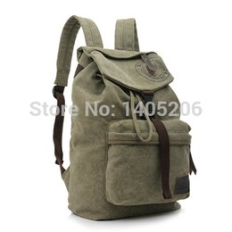 2016 Sale Direct Selling Backpacks Women Men Blue Khaki Korean Canvas Backpack Schoolbag Retro Style Male College Travel Mountaineering Bag