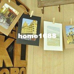 Free shipping Creative DIY hanging frame wall background of living room decoration kraft paper photo Album 5 sets lot (50pcs)