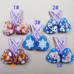 Wholesale Frozen Series Hairclip Hairpin Hair Ornament Jewelry Baby Girls Hairclips Hairpins Barrettes Cartoon Animation Hair Accessories