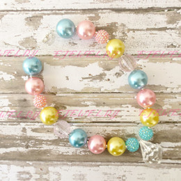 Easter Chunky Beaded Necklace..Chunky Necklace..Childrens Necklace..Pearl Necklace..Photo Prop..Birthday..Easter CB115