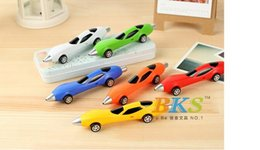 Wholesale BKS Student toy car pen reative ballpoint pen car ballpen children school office supplies home decoration kids DHL gift