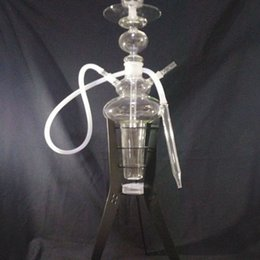 Hot Selling Arab Hookah Pipe Inline LED Light And With One Hose Oil Rig Glass Water Pipe Bong