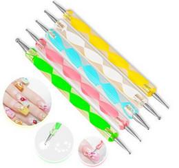Wholesale 2 way Dotting Pen Marbleizing Tool Nail Polish Paint Manicure Dot Nail Art Set