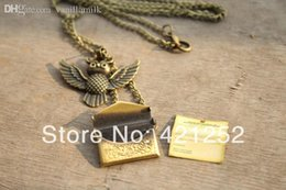 Wholesale Harry Potter Necklace Owl Post Necklace with Hogwarts Acceptance Letter pendant locket necklace