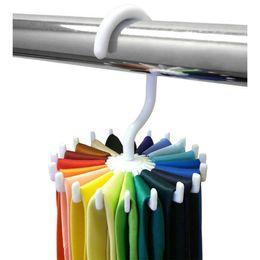 Wholesale New Arrivals Mens Rotating Organizes Ties Rack Adjustable Home Storage Hanger Plastic C418