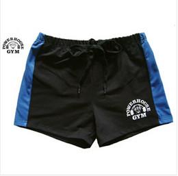 Brand 100% Cotton Men's Gym Shorts Gold Powerhouse Shorts Fitness Men Bodybuilding Workout Sports Training Running Shorts