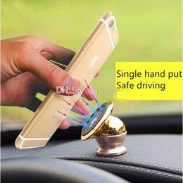 Wholesale The new degree rotating aluminum magnet magnetic cell phone holder cell phone holder car navigation holder magnet
