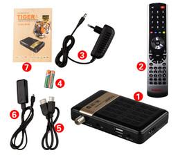 Wholesale 1pcs cheap Original Tiger E400 mini plus hd iptv satellite TV Receiver dvb s2 arabic iptv box support royal iptv power vu