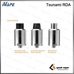 GeekVape Tsunami RDA Atomizer With Improved Velocity Style Deck Adjustable Kennedy Style Airflow Various Drip Tip Rebuidable Tank