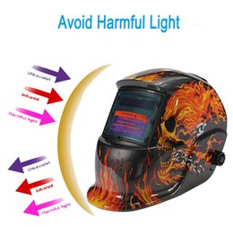 Wholesale Electrical Welding Helmet Solar Energy Automatic Darkening Skull Protective Mask Auto Darkening welding Helmets PIT_112