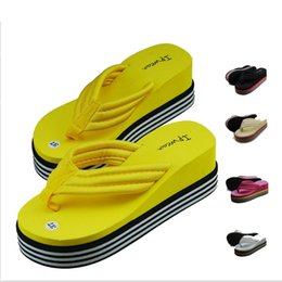 Wholesale 2016 new large size women s high heeled sandals female wedge sandals fashion Flip flops colors