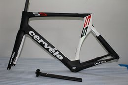Wholesale Black matte withe glossy carbon frame New models and white decal carbon frame road bike bicycle frameset High quality T1000