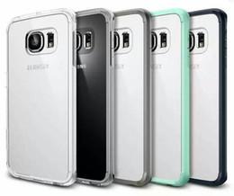 Ultra Slim hybride TPU pare Clear Crystal Cover panneau transparent arrière pour Samsung Galaxy S6 bord G9250 iPhone 6 Plus iPhone 5 5s MOQ: à partir de pare-chocs 5s transparent fournisseurs