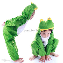 Wholesale-Kids paly game costume Frog fantasia halloween animal cosplay costumes children performance fantasy show dress for girls boys