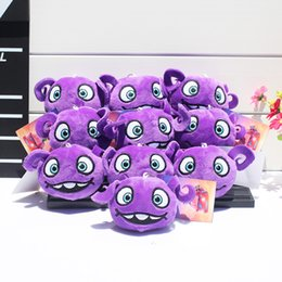 Wholesale 10pcs Cartoon Movie HOME OH Stuffed Plush Keychain Pendants Aliens Drive Me Crazy Soft Toys With Ring cm
