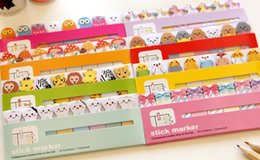 Wholesale NEW Creative cartoon animal Notepad Memo Paper sticky note pad