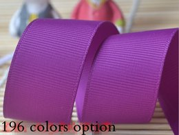 15% off hot sale fashion 3'' 75mm polyester plain solid color grosgrain ribbon for gift ribbons bows hair accessories 200yards 196 colors