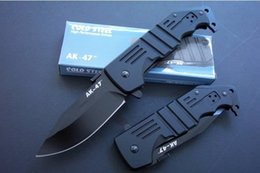 COLD STEEL AK47 AK-47 Tactical Knife Aircraft Aluminum Handle Hunting Folding Pocket Knife free shipping 1pcs