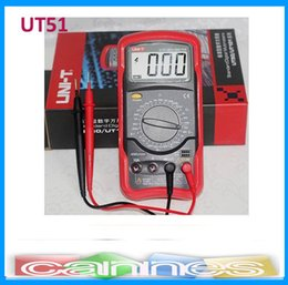 Wholesale Rushed Voltmeter Union Tech Tool Store Uni t Lcd Handheld Digital Multimeters Ut51 for Ac Ohm Dmm Register