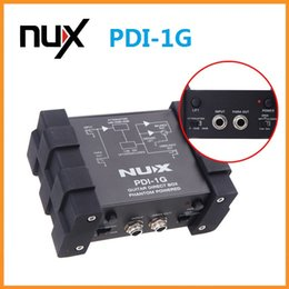 Wholesale New Arrival NUX PDI G Guitar Direct Injection Phantom Power Box Audio Mixer Para Out Guitar Parts Accessories
