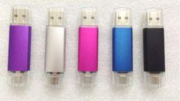 Wholesale 70pcs New Smart Phone GB GB USB YG Flash Drives pendrives OTG external storage micro usb LOGO gift