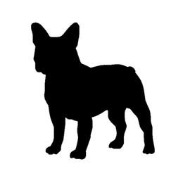 Wholesale French Bulldog Dog Decal vinyl sticker For Car SUV Truck Boat Window Bumper Home Wall