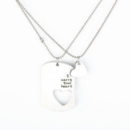 Wholesale 2016 Hot Selling the couples letters are sets of chain lovers necklace pendant gift of love and Valentine s Day ZJ