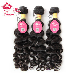 Queen Hair 3pcs lots More wave Peruvian Virgin hair unprocessed,shedding and tangle free,shipping free by DHL