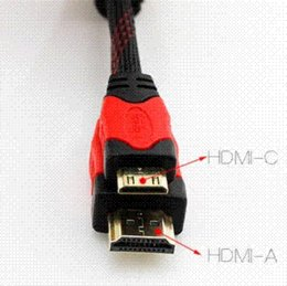 Free shipping 1080P 3D HDMI Cable Male to Mini HDMI 1.4 AV Cable for HDTV XBOX PS3