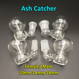 Wholesale 6 Styles Glass Ash Catcher Bowls With Female Male mm mm mm Joint Inches Bubbler And Calabash Glass Perc Ashcatcher Bowls