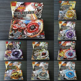 Wholesale Beyblade Metal Fusion D set BB105 BB106 BB108 BB109 BB111 BB113 BB114 BB116A BB116B BB116C kids game toys children Christmas gift LY