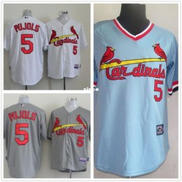 Wholesale 30 Teams Albert Pujols jersey St Louis Cardinals throwback white blue Baseball jersey cheap Authentic shirt