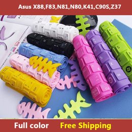 Wholesale-Full color laptop Keyboard cover skin protector for asus X88,F83,N81,N80,K41,C90S,Z37