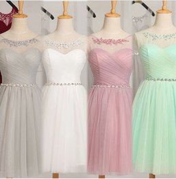 Wholesale 2016 Cheap Country Bridesmaids Dresses South Africa Short Royal Blue Silver Modest Knee Length New Prom Gowns Real Photo Beach Wedding Party