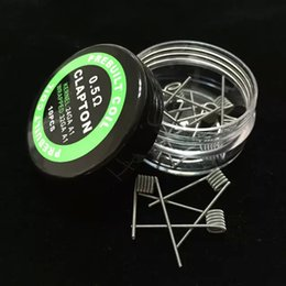 Prebuilt Heat Wire Coils Clapton Twisted Coils vs Hive Quad Tiger Different Types Heating Resistance Wrap Wires Vapor Mods RDA Premade Coil