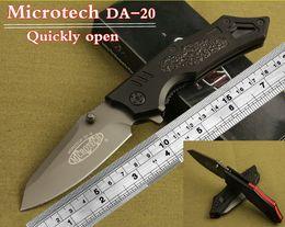 Wholesale Microtech folding knife micro technology gray titanium surface treatment Aerospace aluminum handle outdoor surviva hunting knife