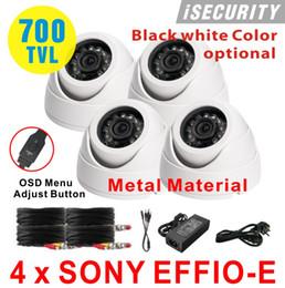 New! 4pcs lot cctv Sony Effio-E CCD 700TVL 960h CCTV Indoor dome security camera 3.6mm lens IR Camera+Free shipping