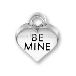 Wholesale New Arrival Metal Sign Language Alphabet BE MINE Message Charms